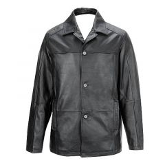 Buttoned Front Lambskin Thinsulate Jacket front view